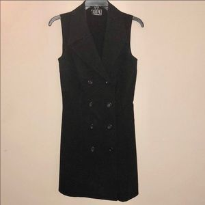Dresses & Skirts - Women's black button up Vest mini Dress RETRO 90's